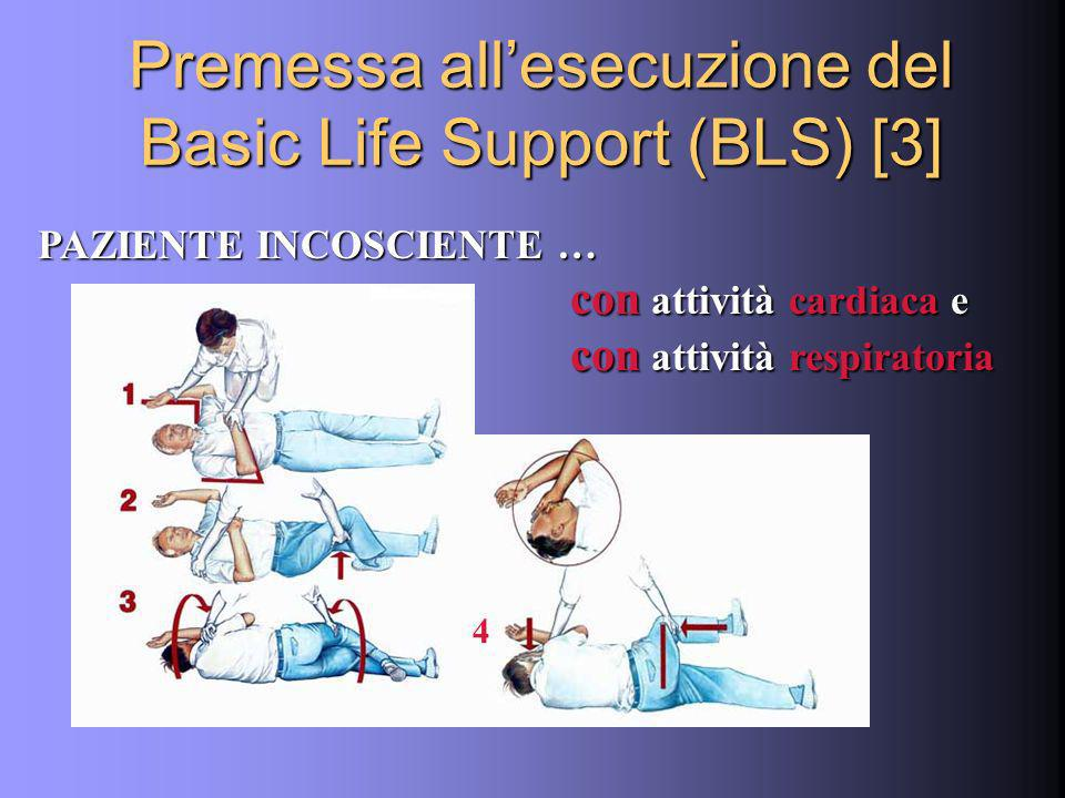 Premessa all'esecuzione del Basic Life Support (BLS) [3]
